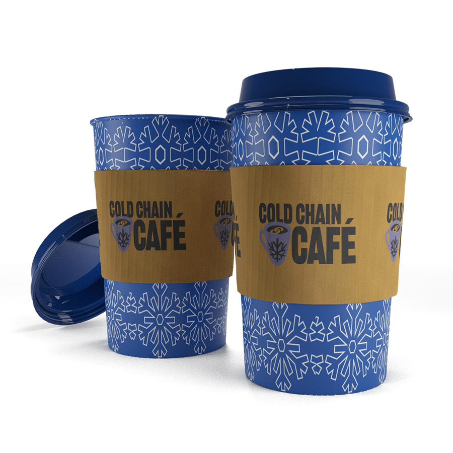 Coffee cups Cold Chain Cafe